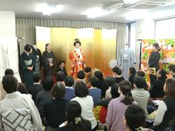 合同授業「花嫁の着付け、きものの歴史」