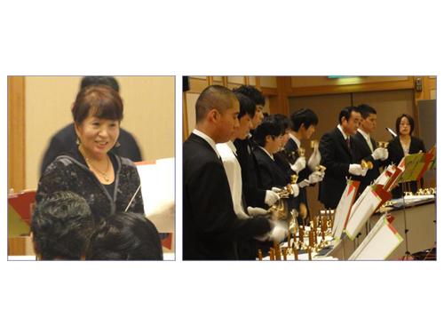 平本和子さん(左)、ベルの会のみなさん(右)