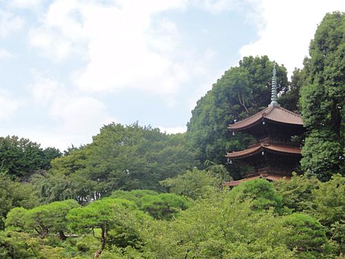 2万坪の庭園〜三重塔〜