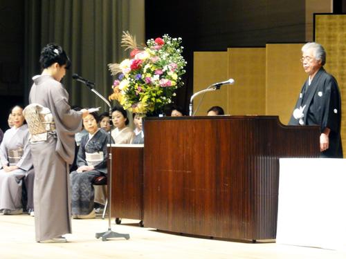 【 生徒代表謝辞 】<br />「入門科よりスタートし、今も学院の一員であることが光栄です。」<br />千葉校:桑田 久美子さん