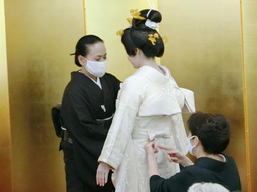 花嫁の着付け4(帯結び3)