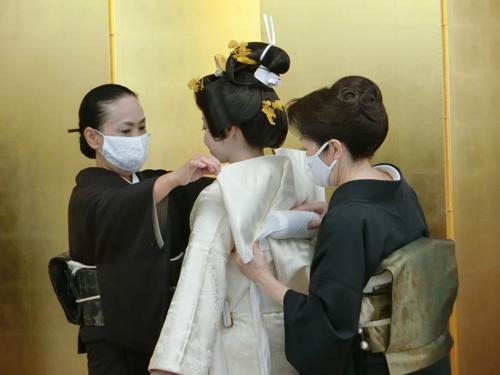 花嫁の着付け3(帯結び2)