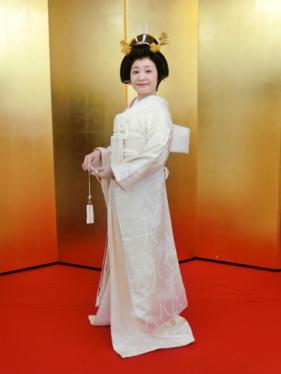 白無垢姿の花嫁モデル